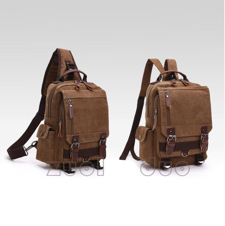 Outdoor Travel Waterproof Teenage Custom Single Should Canvas Bag/Backpack Daypack