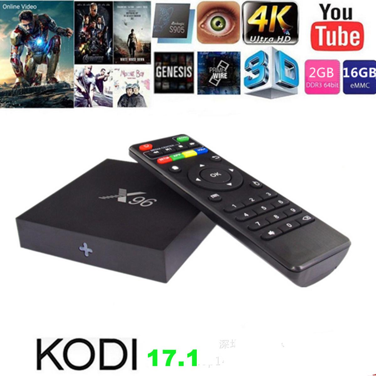 New Model S905X 2GB 16GB Smart TV Box Android 6.0 Live Streaming Ott TV Box Set Top Box