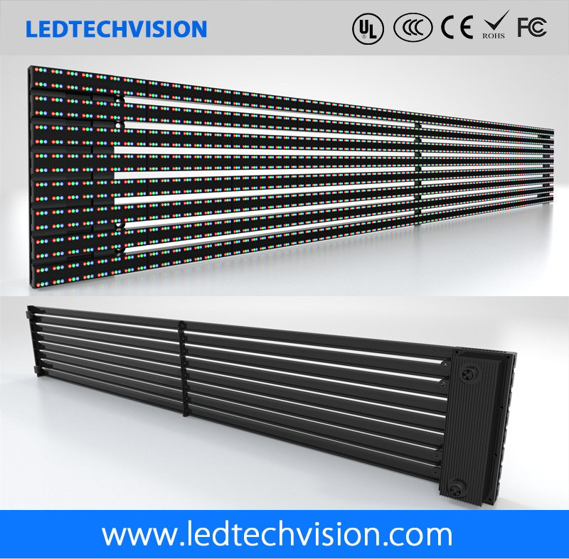 P16mm Curtain Strips Outdoor LED Advertising Board