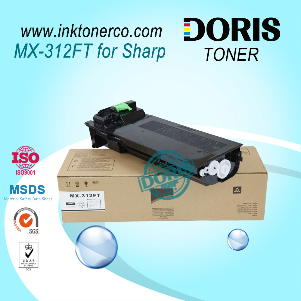 Mx312 Mx-312 Mono Copier Toner Powder Mx-M261 / M311 / 2628L / Mx-M2608n / M3108n / M3508n / M2608u / M3108u / M3508u for Sharp