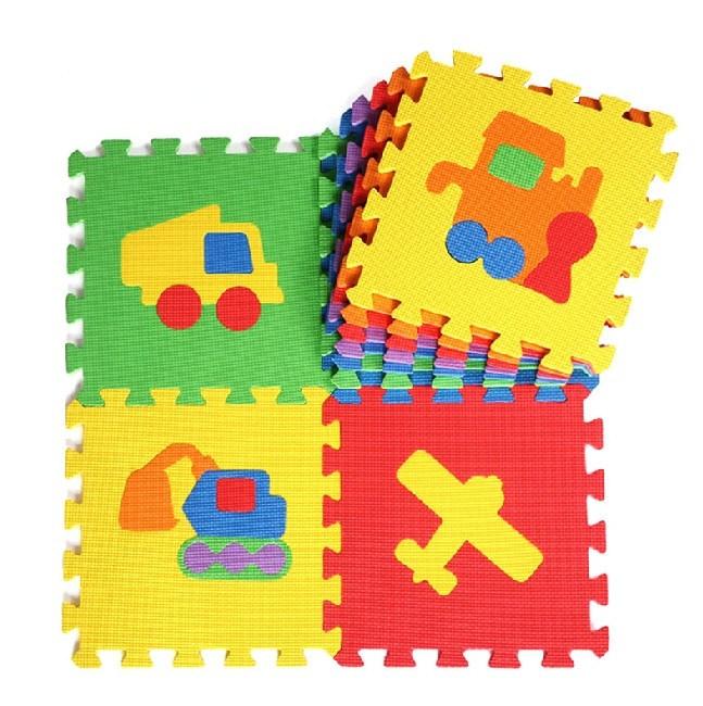 Cartoon Design Pattern Baby Puzzle Mat Playing Soft Foam Material EVA Puzzle Mat Interlockin