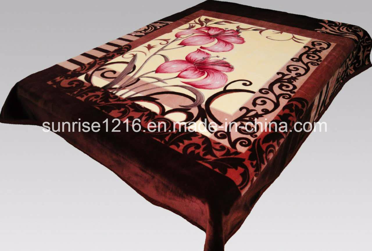 100% Polyester Soft Mink Blanket (Sr-B170228-3)