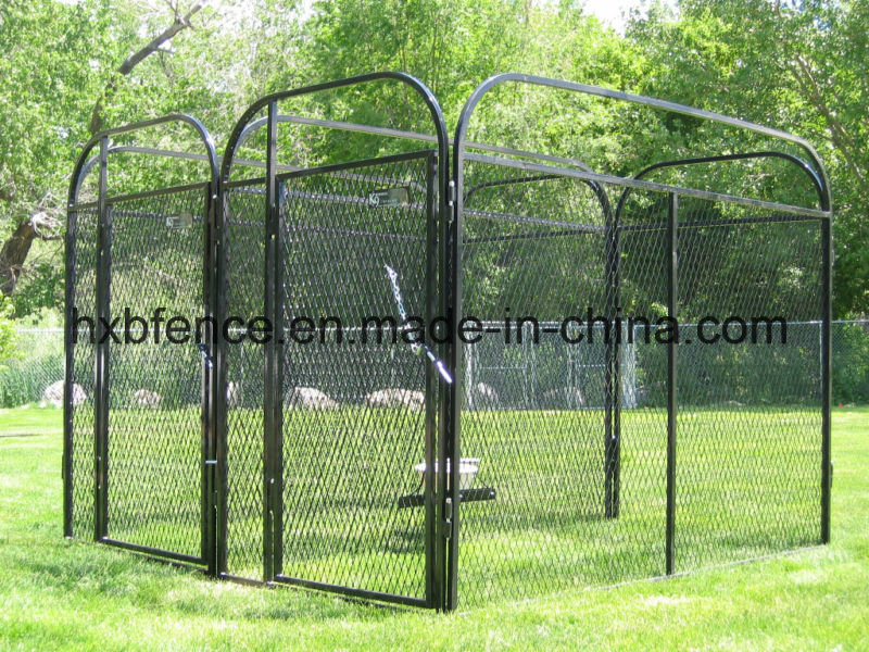 Square Tube Outdoor Wire Mesh Dog Cage
