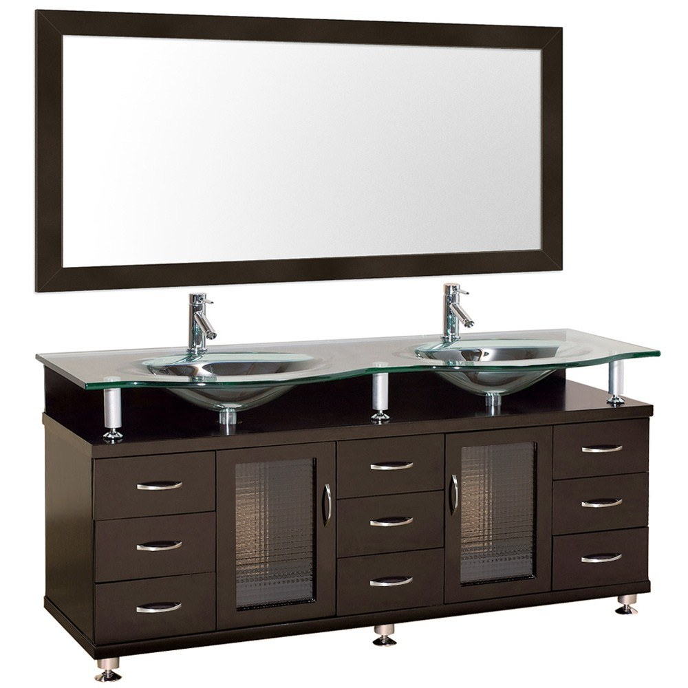 Hardwood Bathroom Vanity Home Decor