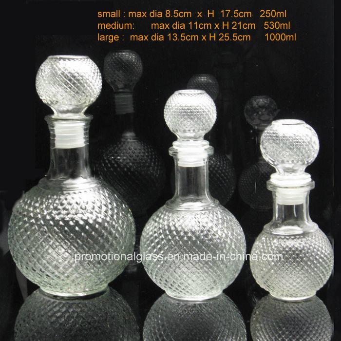 Wholesale Round Ball Shaped Glass Wine Bottles