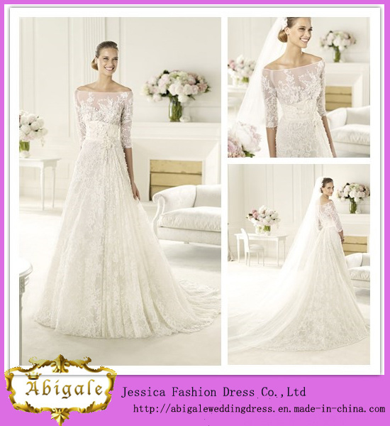 China charming elegant floor length a line off the for Elie saab wedding dress for sale