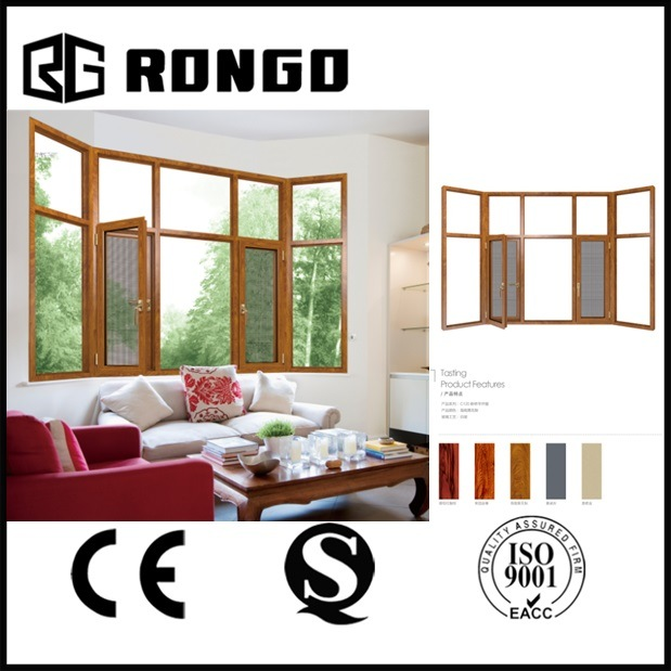 Rongo Aluminum Bay Window with Double Glazing and Sst Mesh
