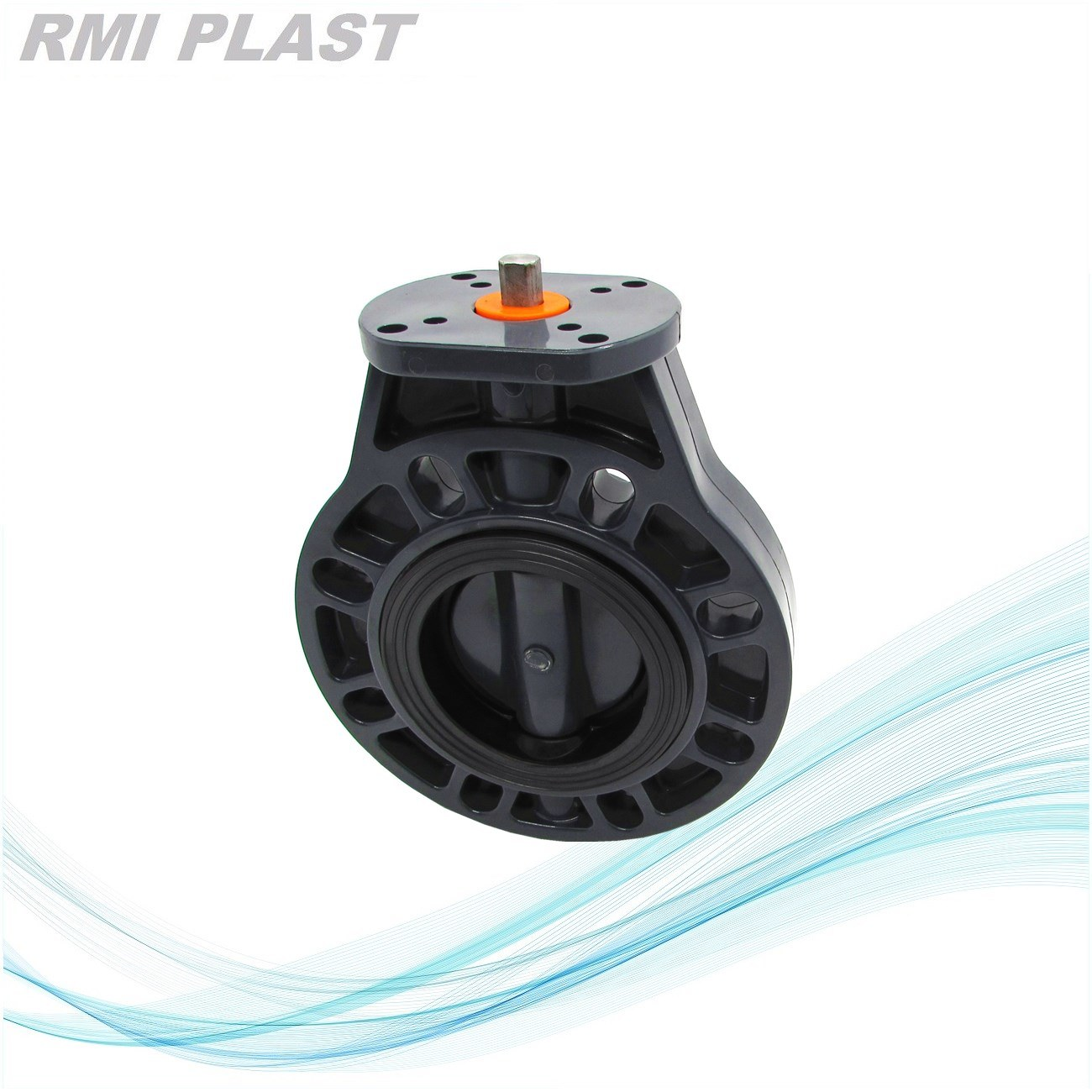 CPVC Pph PVDF PVC Plastic Pneumatic Butterfly Valve