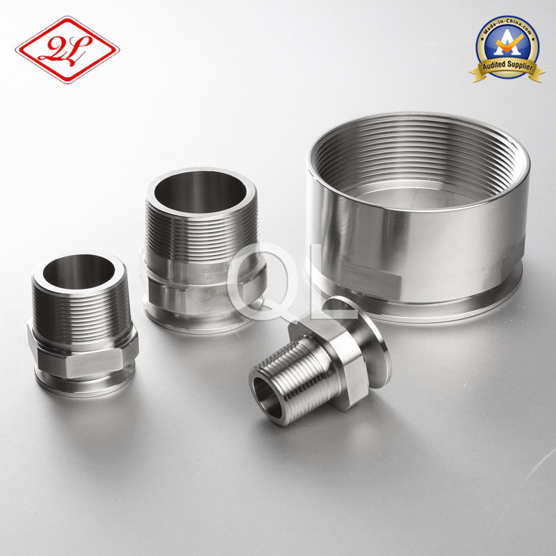 Sanitary Stainless Steel 21MP NPT Pipe Adaptor