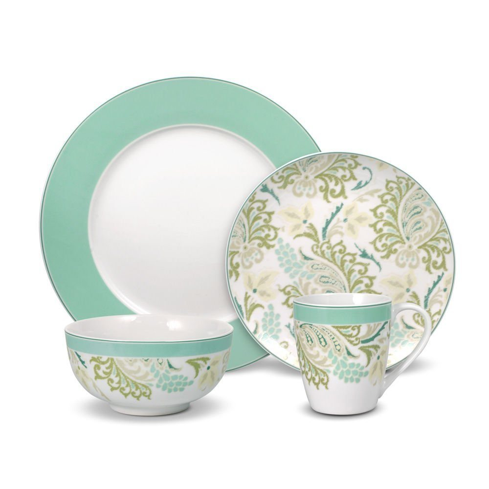 Sketch Paisley Ceramic Dinner Set for Sublimation