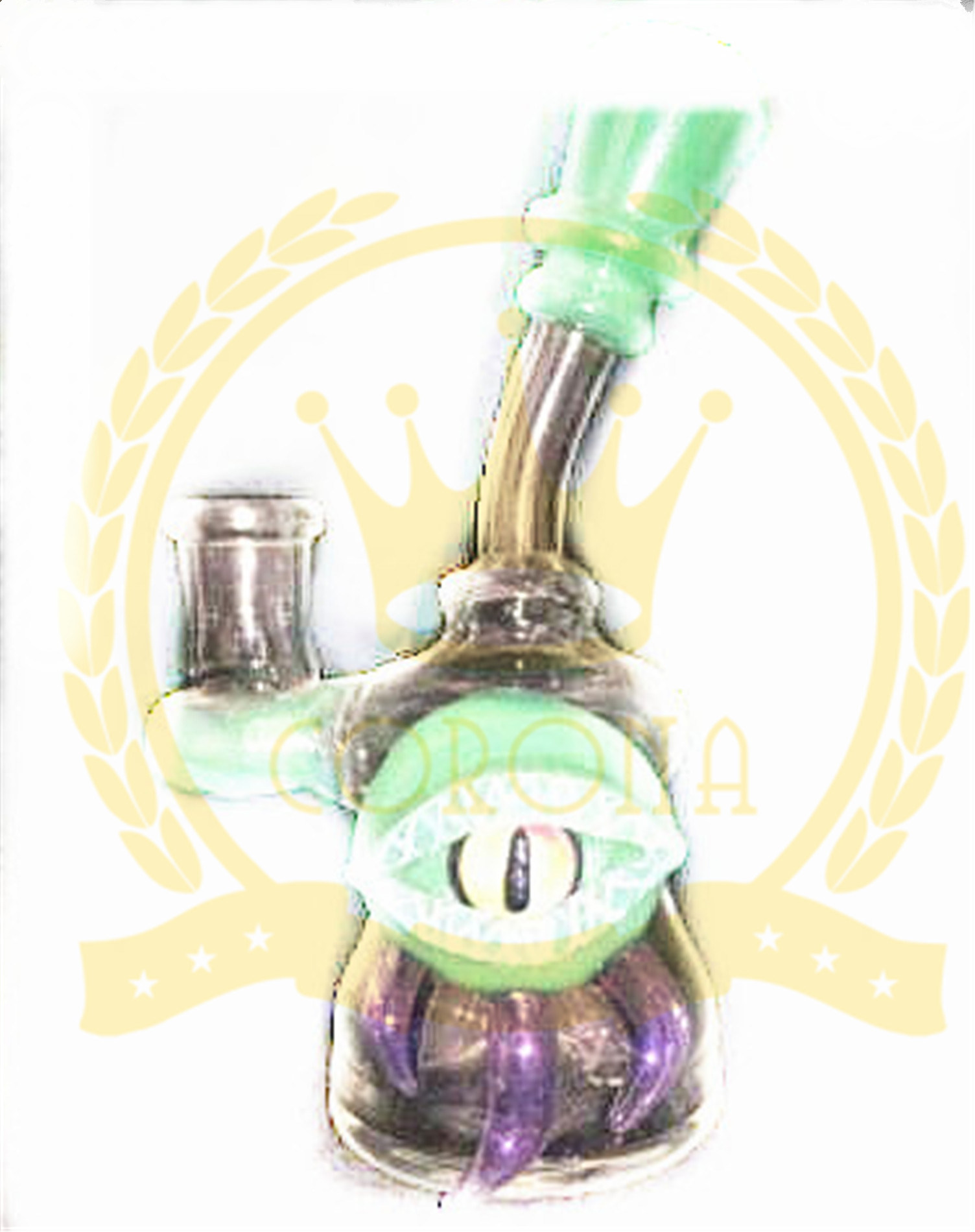 Glass Craft Ashtray Mobius Matrix Fab Egg Skull Pink Tall Eyes Shape Arm Tree Mini Purple Oil Rig DAB Color Glass Smoking Water Pipes