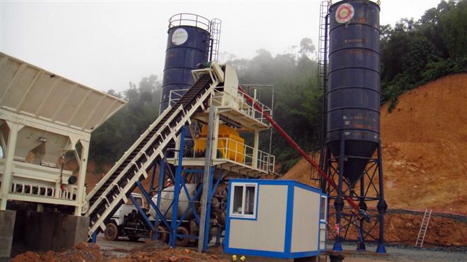Stationery Concrete Batching Plant (HZS75)