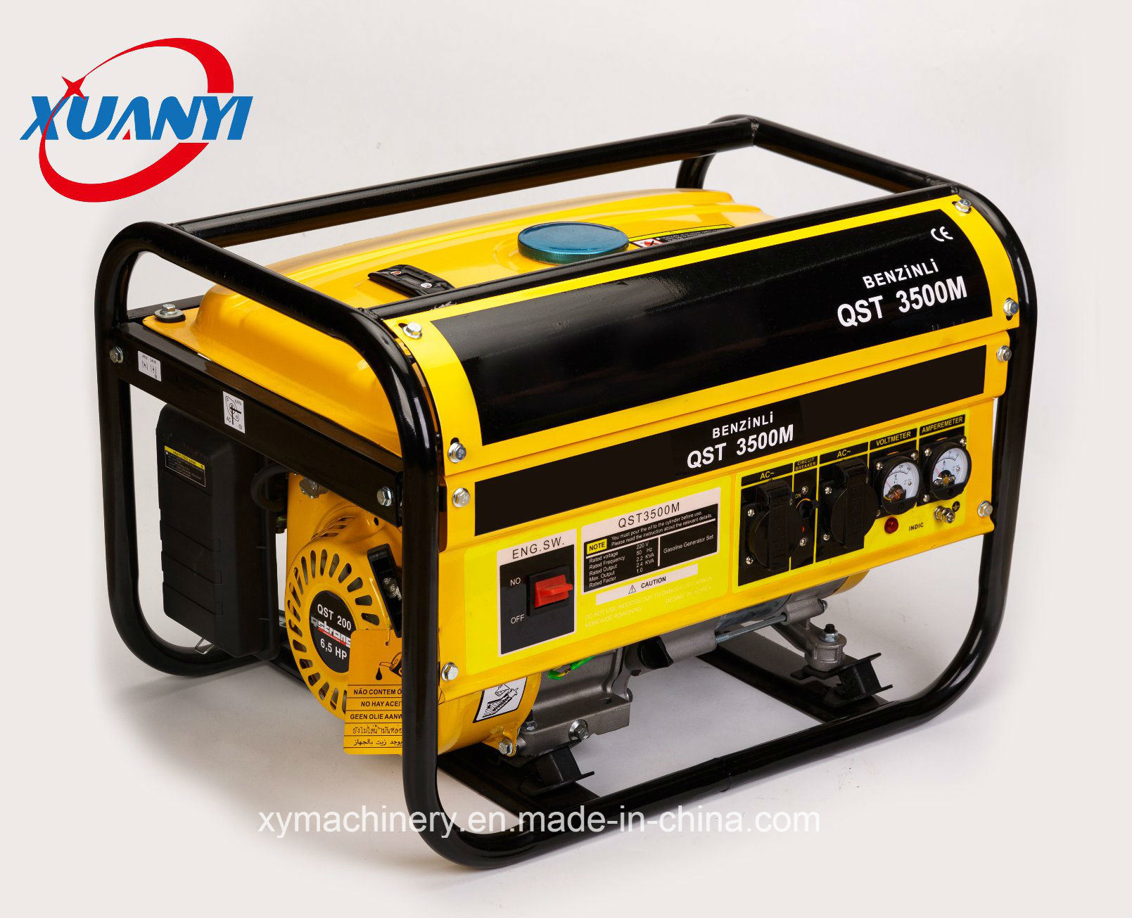 High Quality 2500W 7HP 100% Copper Wire Electric Start Petrol/Gasoline Generator