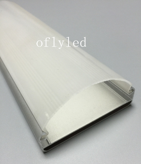 with Big Shiny Surface Cover for Aluminum LED Profile