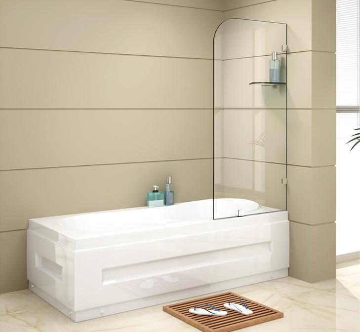 Modern Design Glass Shower Wall Bathtub Shower Screen (BLS-V9901)