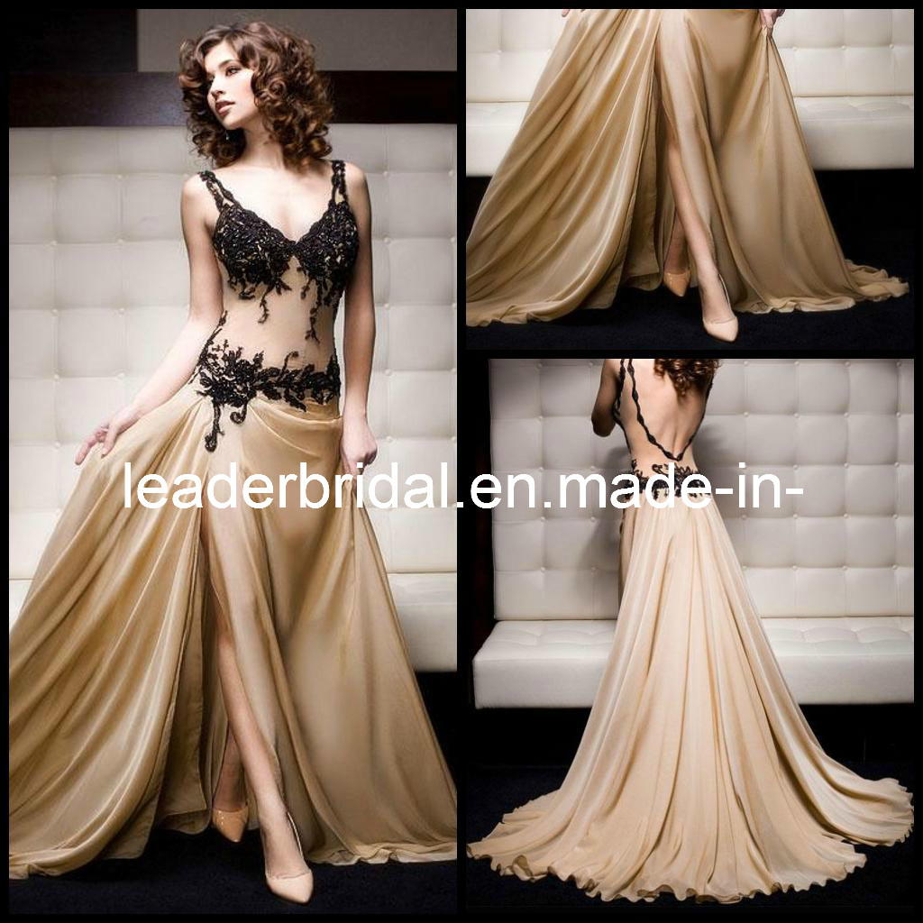 Displaying 18> Images For - Plunging Neckline Prom Dress...