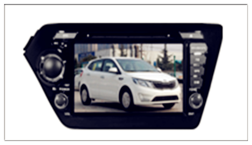 Two DIN Car DVD for KIA K2/Rio with GPS/Bt/iPod
