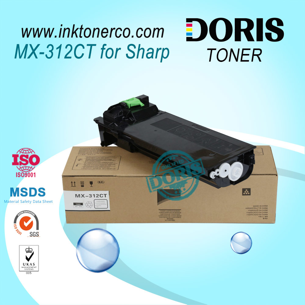 Mx312 Mx-312 Mono Copier Toner Powder Mx-M261 / M311 / 2628L / Mx-M2608n / M3108n / M3508n / M2608u / M3108u / M3508u for Sharp