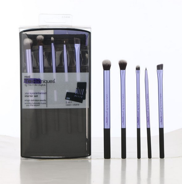Christmas Gift Hottest Real Tech Makeup Brush Core Collection and Starter Set Kit Brushes 5PCS/Set