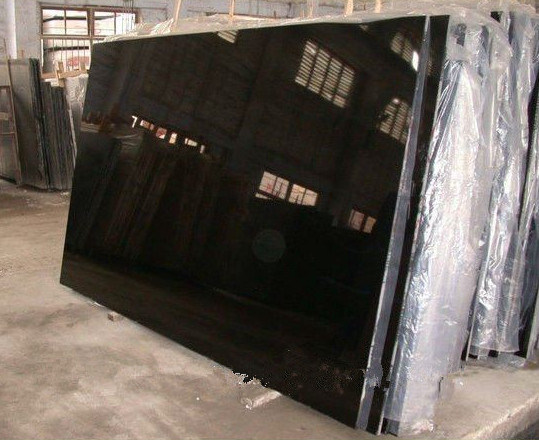 Shanxi Black Polished Artifical Granite Stone for Slab