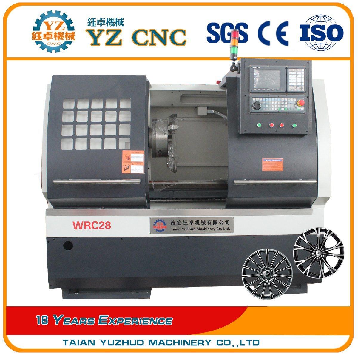 Wrc28 Alloy Wheel Rim Diamond Cutting Repair CNC Horizontal Lathe Machine