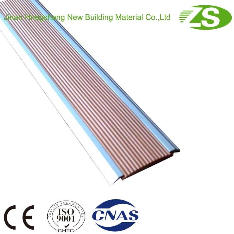 Plastic Ceramics Edge Flooring Tile Stairs Nosing with Aluminum Frame
