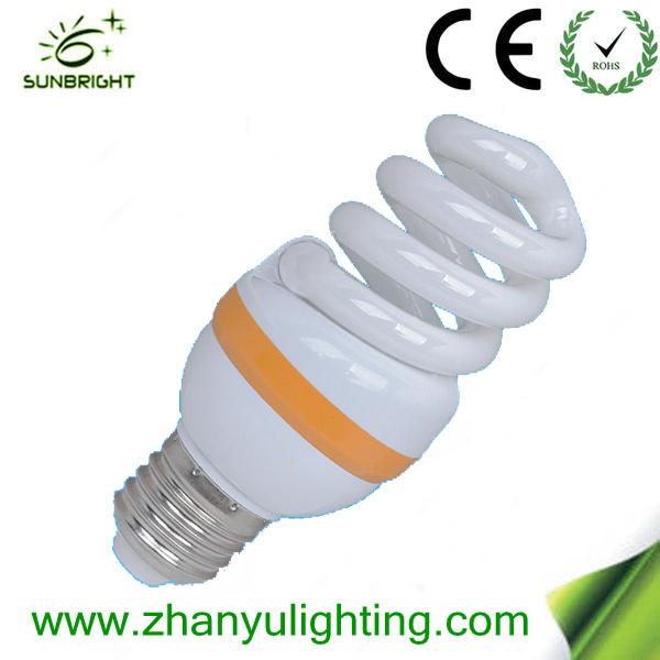 9W Mini Spiral Compact Fluorescent Lamps