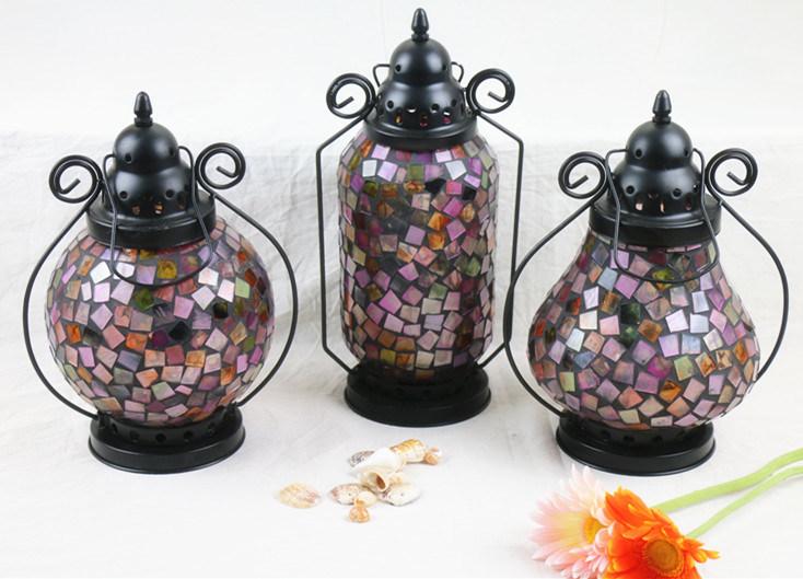 Glass Crafts Mosaic Glass Lamp Shade Glass Lantern