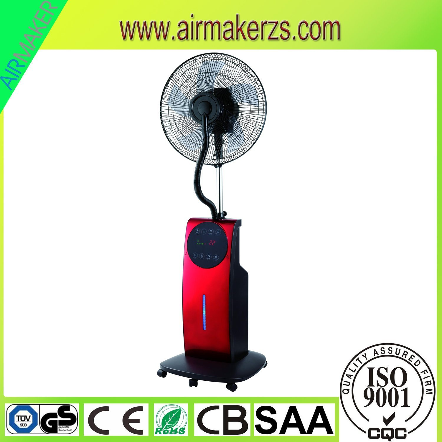 90W Indoor Outdoor Cool Water Mist Fan with Remote GS/Ce/Rohs