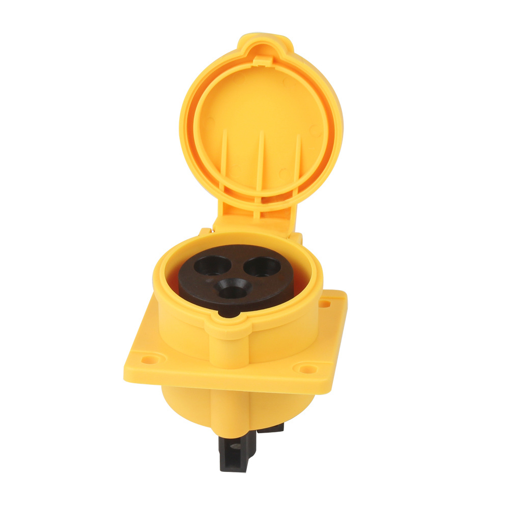 (3031602) IEC309 Outdoor Waterproof IP44 2/3/4/5 Phase Electrical Power Mennekes Type Straight Flanged Industrial Sockets Outlets