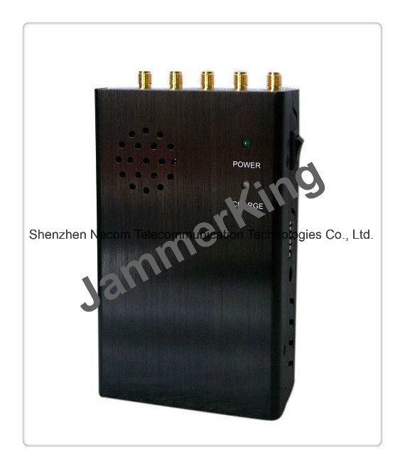 China Price Advantaged Professional Manufacture Cell Phones Jammer, Handheld 3G CDMA GSM Dcs WiFi Signal Blocker - China 5 Band Signal Blockers, Five Antennas Jammers