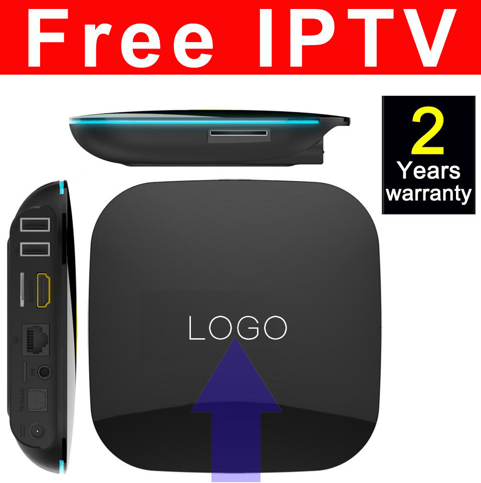 Custom Made Free IPTV Smart Android5.1/6.0 Marshmallow TV Box S905/S905X Quad Core Qbox-2GB/16GB