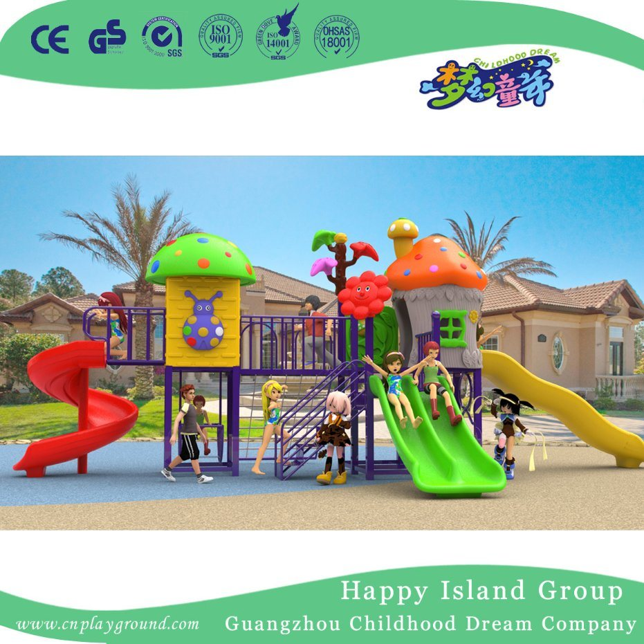 2018 Christmas Outdoor Mushroom House School Children Playground Equipment (H17-A13)