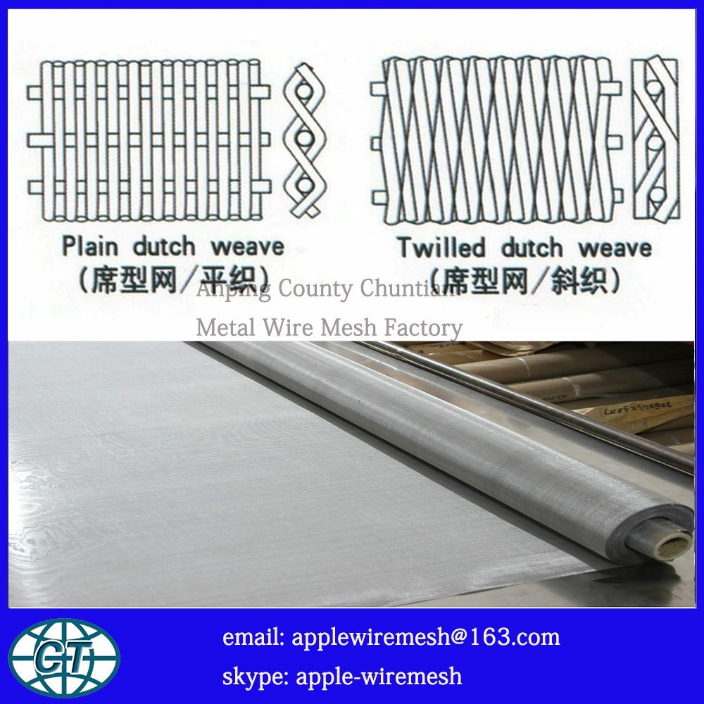 Factory Price Paper-Making Stainless Steel Mesh in Supper Width