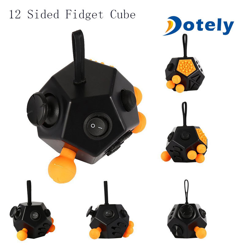 12 Sided Fidget Cube Blue All Sides