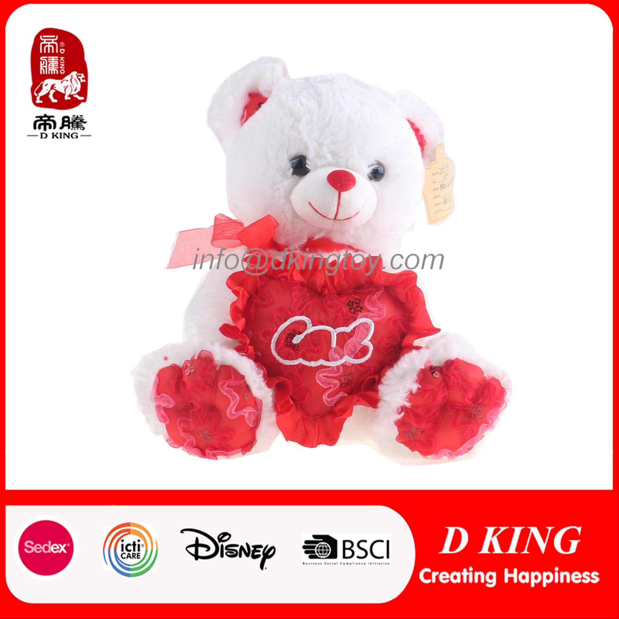 New Design Soft Toy Teddy Bear for Valentine′s Day