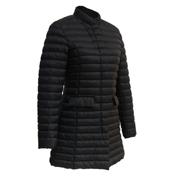 Wholesale Nylon Ladies Black Goose Down Jacket Outdoor Clothing