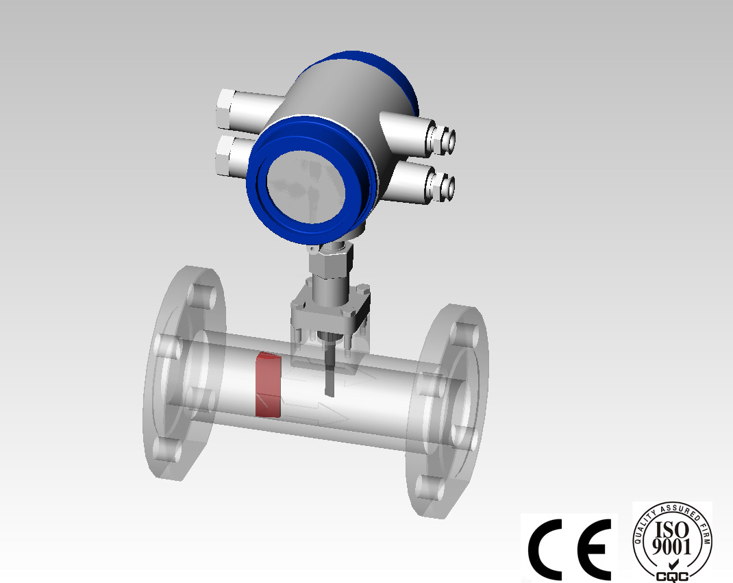 Integrated Type Vortex Flowmeter for Steam with Ce
