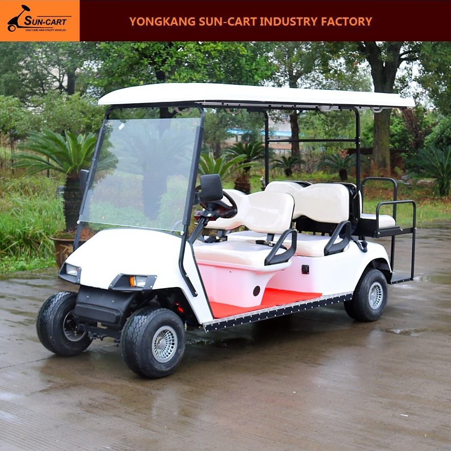6 Passenger Ce Approved Hotel Electric Golf Cart (Rear back folding seats)