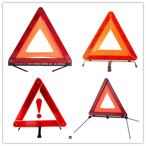 Emergency Car Roadway Warning Triangle with E-MARK