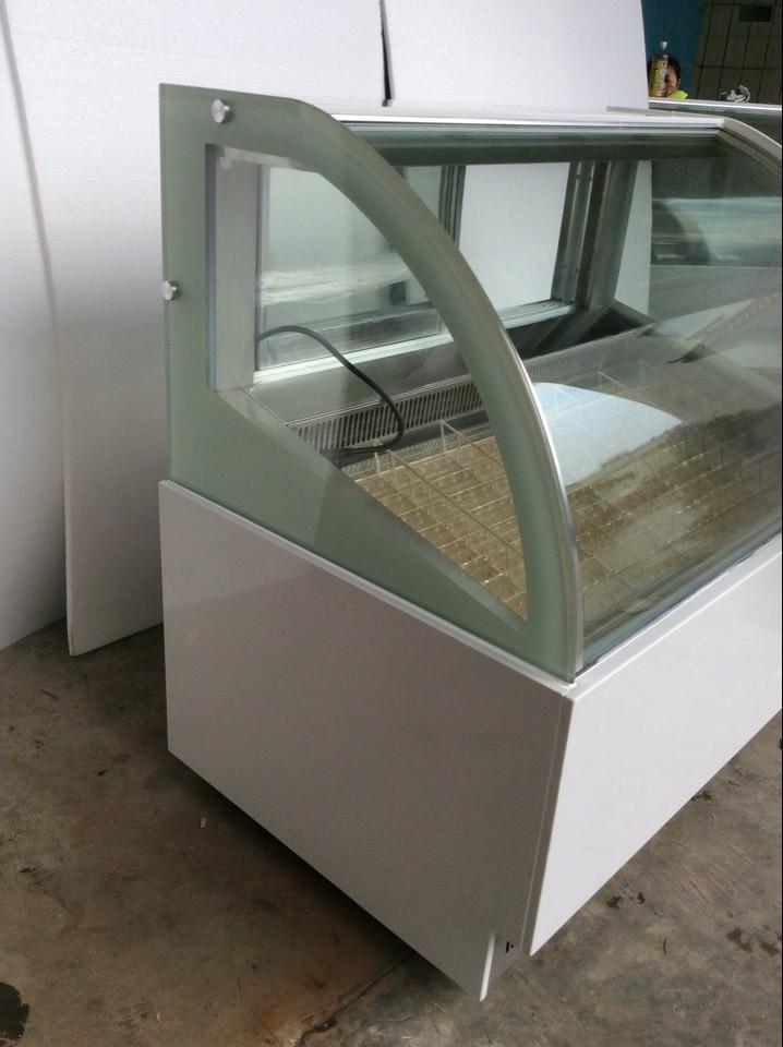 Slide Hard Case Ice Cream Glass Freezer Display