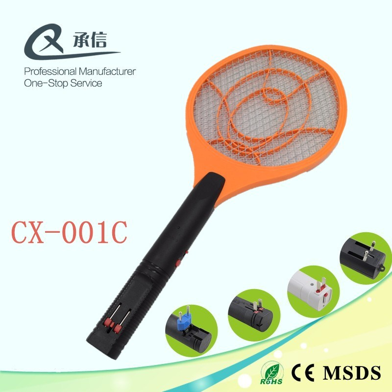 Rechargeable Electronic Mosquito Killer Racket, Pest Control Repeller Insect Flying Repellent for Camping Outdoor
