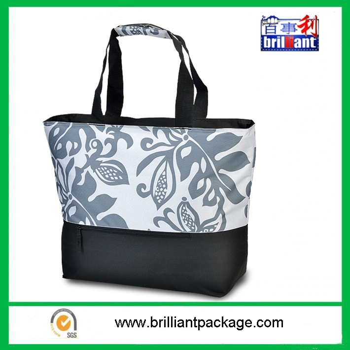 Custom Promotional Ice Bag 600d Beach Tote Thermal Lunch Walker Cooler Bag