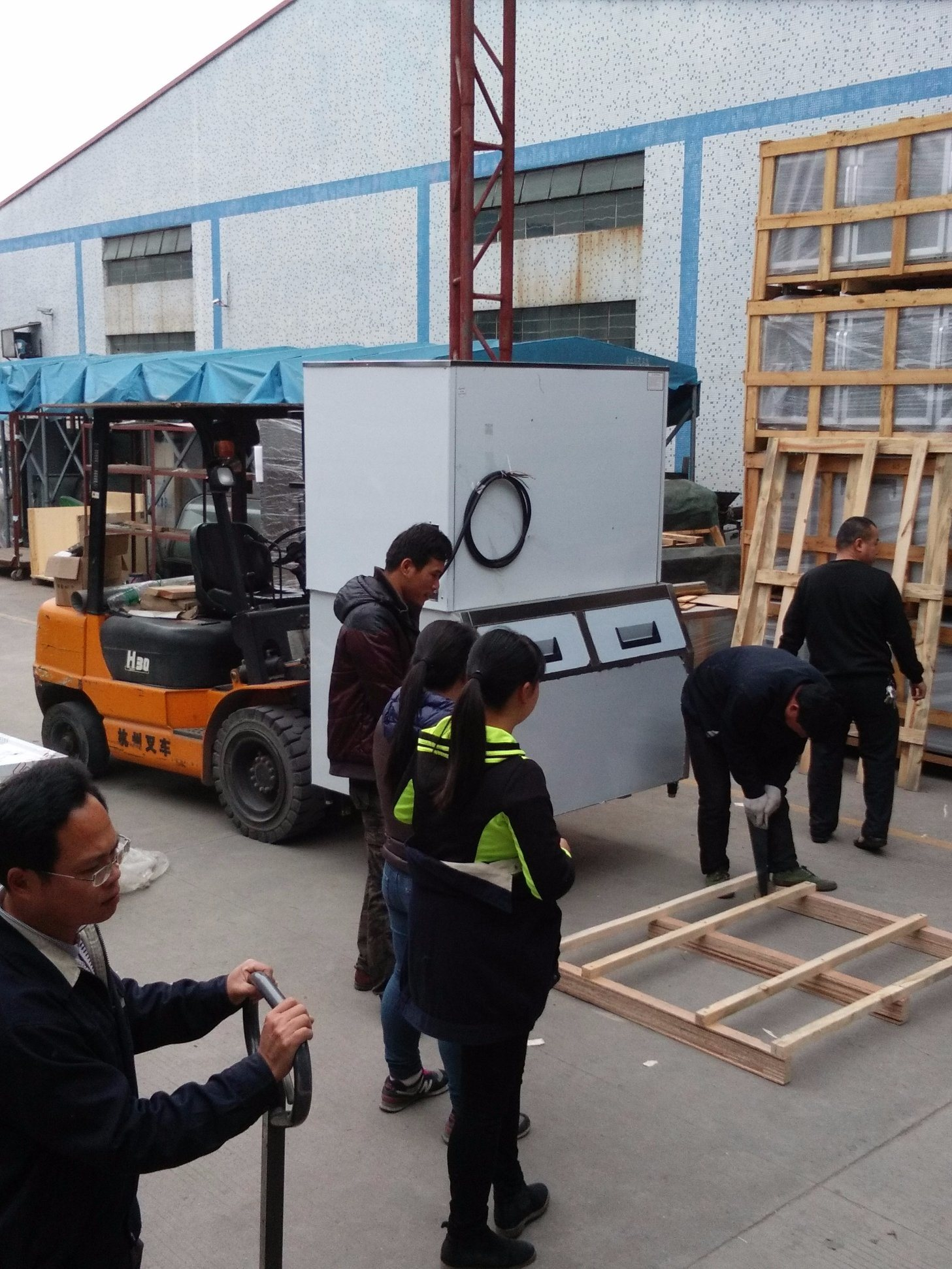 Big Capacity Large 1 Ton 1000kg Ice Cube Machine
