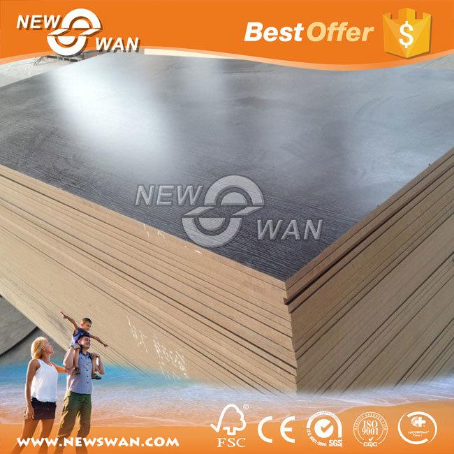 Fsc Certified Laminated Melamine Fiberboard MDF (Particle Board, UV) for Furniture