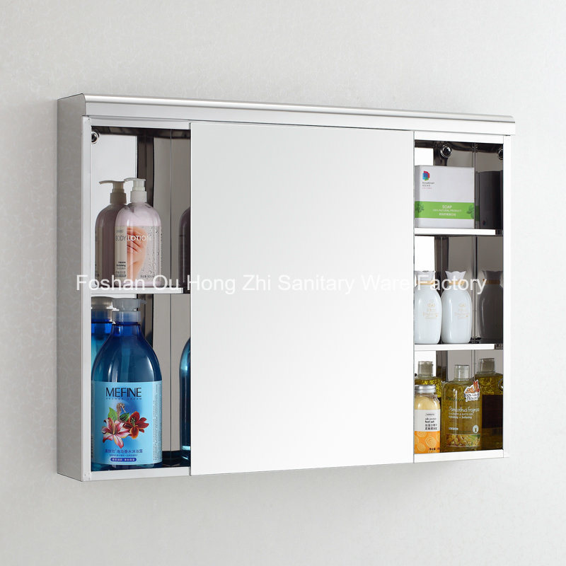 Modern Popular Bathroom Stainless Steel Wall Suface Mounted Mirror Cabinet