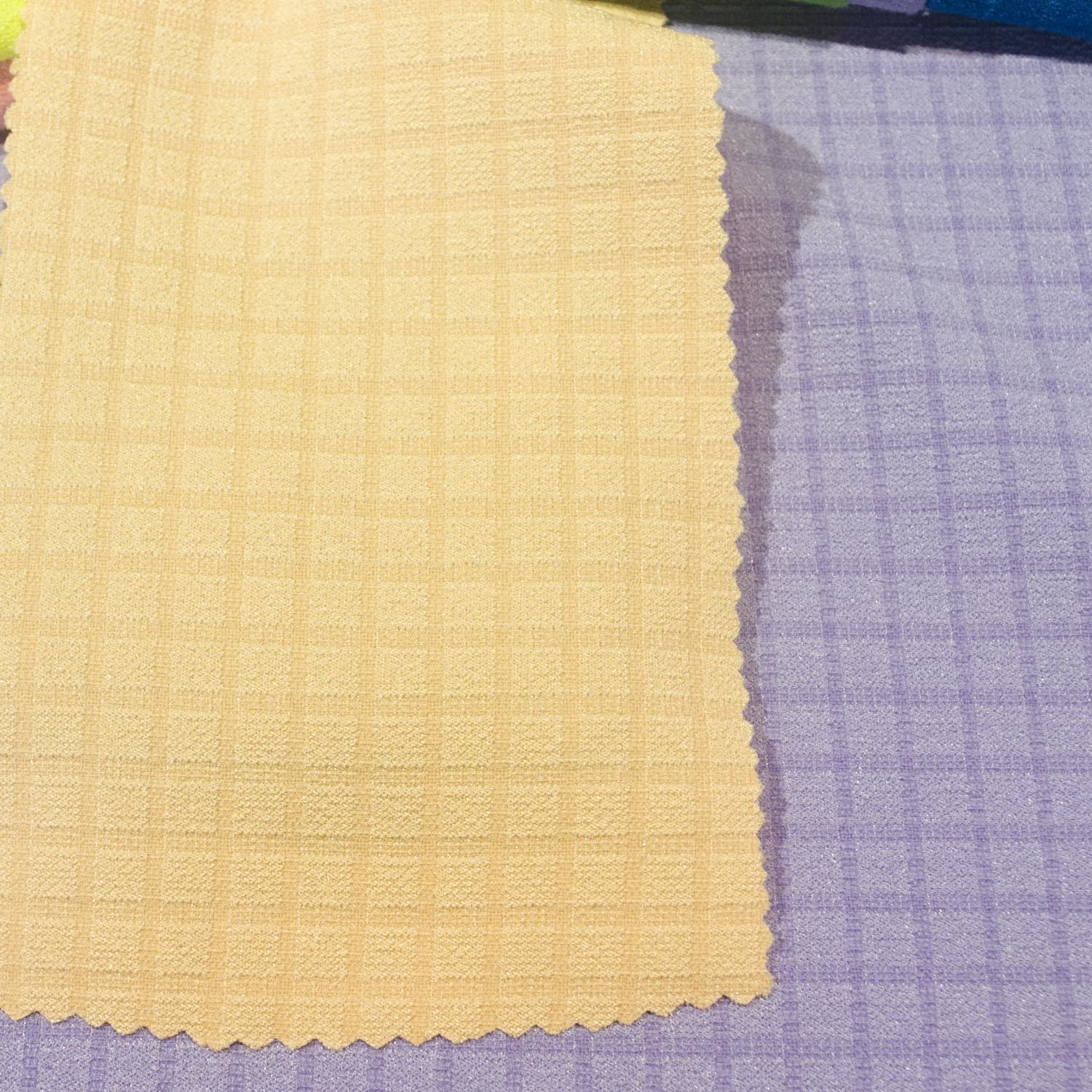 Chemical Fiber Dyed Spandex Polyester Fabric for Dress Shirt Skirt