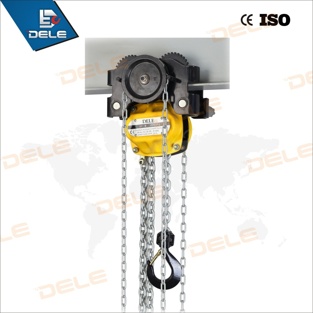 0.25ton-De10ton Hand Chain Block with Trolley