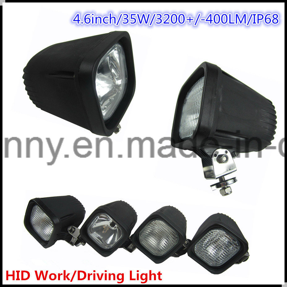 Flood/ Spot 35W Xenon HID Work Light for Truck, Forklift, off-Road, ATV, Excavator