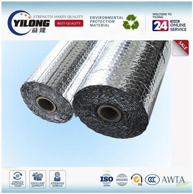 Low Wmissivity Aluminium Foil Bubble Insulation Material